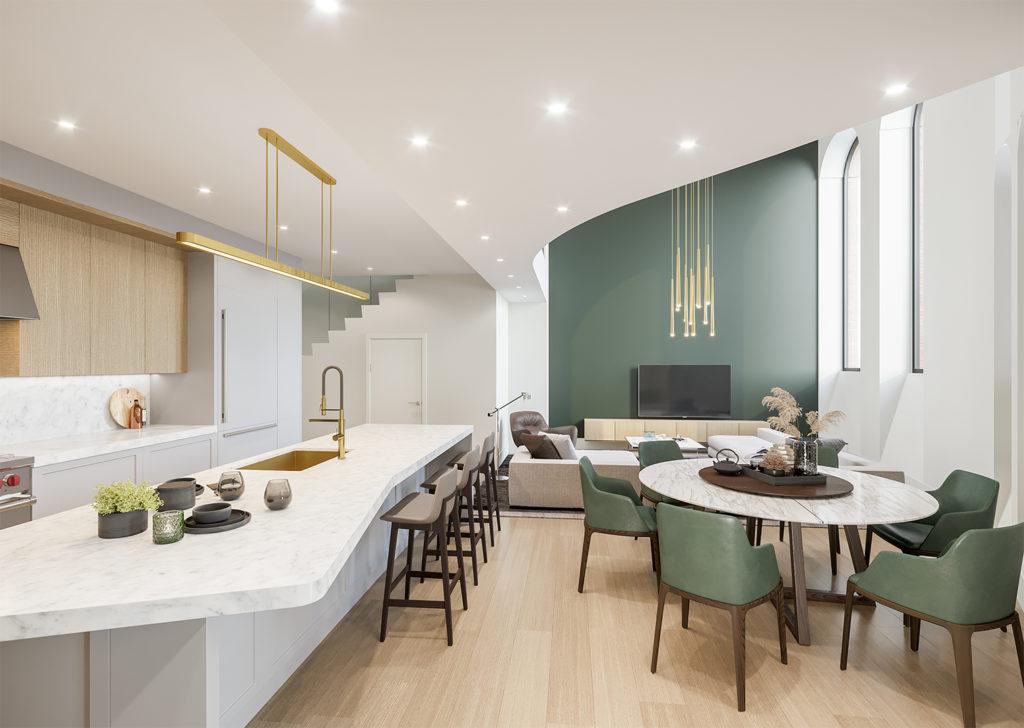 Unit 3 kitchen living - 021420